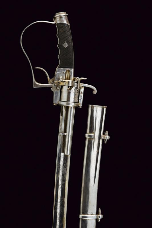 A very rare officer's sabre-revolver, 1864 patent - Image 4 of 11