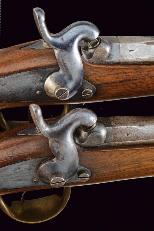 A pair of percussion pistols for Chasseur a cheval - Image 4 of 6