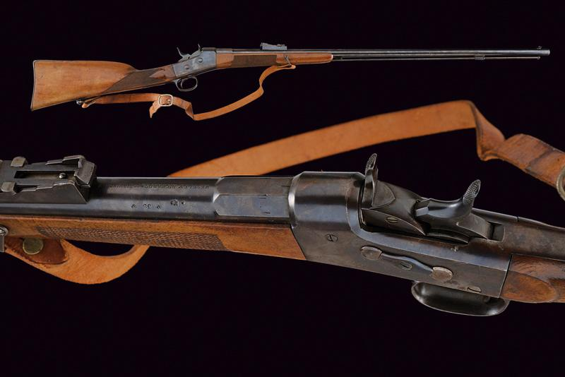 A Rolling block carbine by Westley Richards