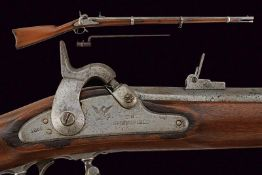 A Springfield percussion gun with bayonet