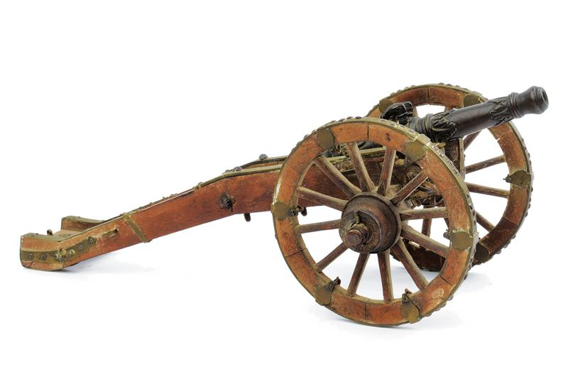 A miniature table cannon with suppor - Image 3 of 4