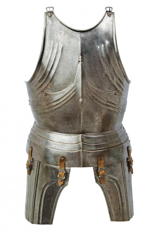 A breastplate and tassets in gothic style
