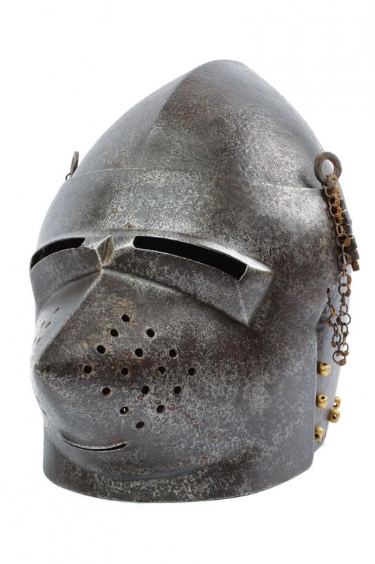 A bascinet in the 14th Century style