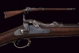 An 1873 model Springfield Trapdoor rifle