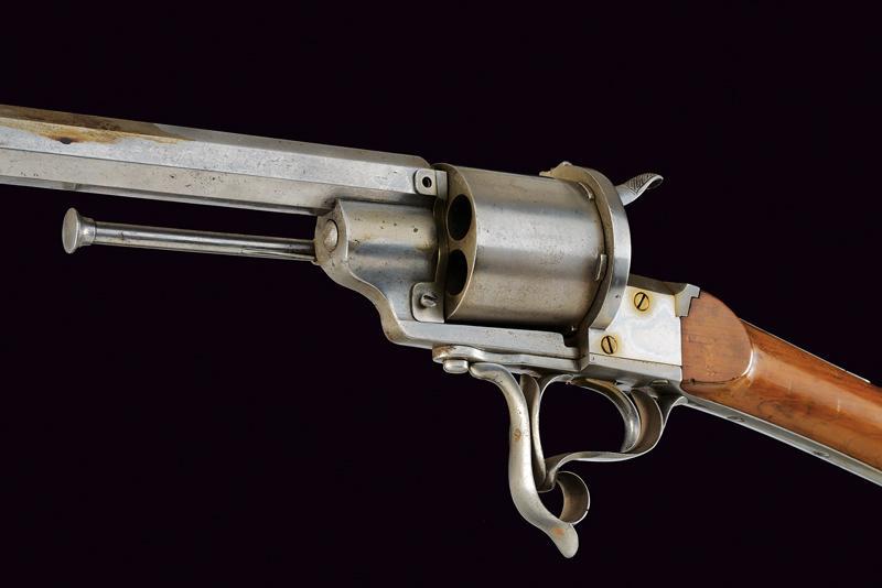 A Lefaucheux centerfire revolving rifle - Image 7 of 9
