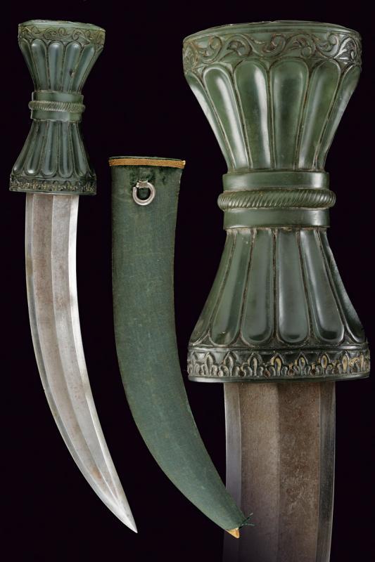 A fine jade hilted kandshar