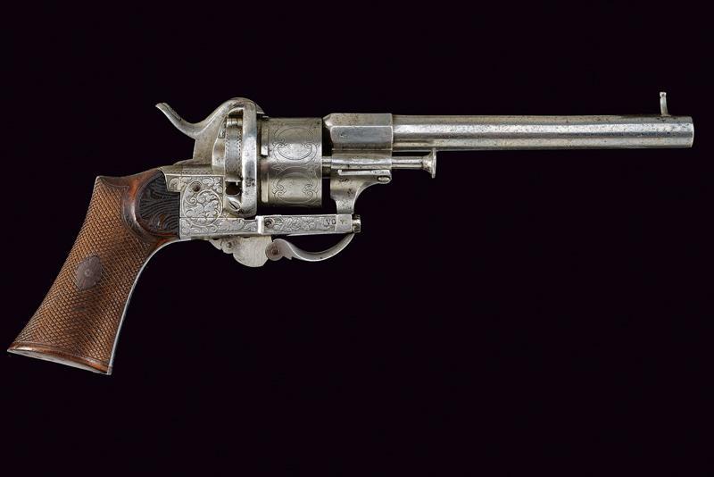 A fine Lefaucheux pin fire revolver - Image 7 of 7