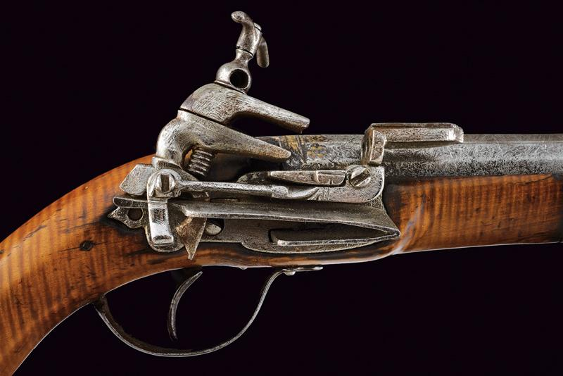 An interesting and rare miquelet flintlock pistol - Image 4 of 9