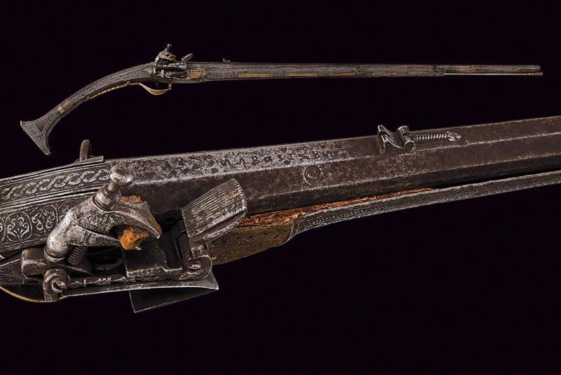 A miquelet flintlock gun