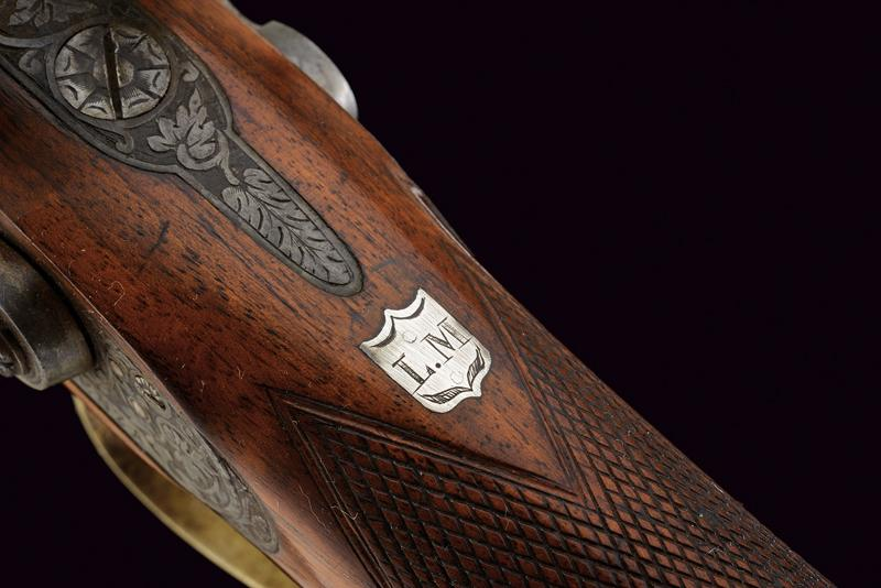 A rare cased four barrelled percussion gun by L. Menichetti - Image 5 of 19