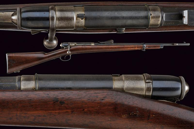 An 1870 model Vetterli breech loading rifle