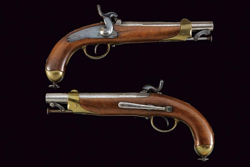 A pair of percussion pistols for Chasseur a cheval