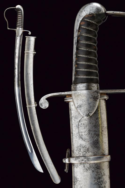 A 1796 model hussars and light cavalry officer's sabre