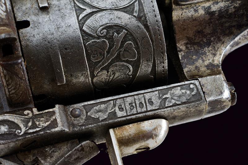 A fine Lefaucheux pinfire revolving carbine - Image 4 of 8