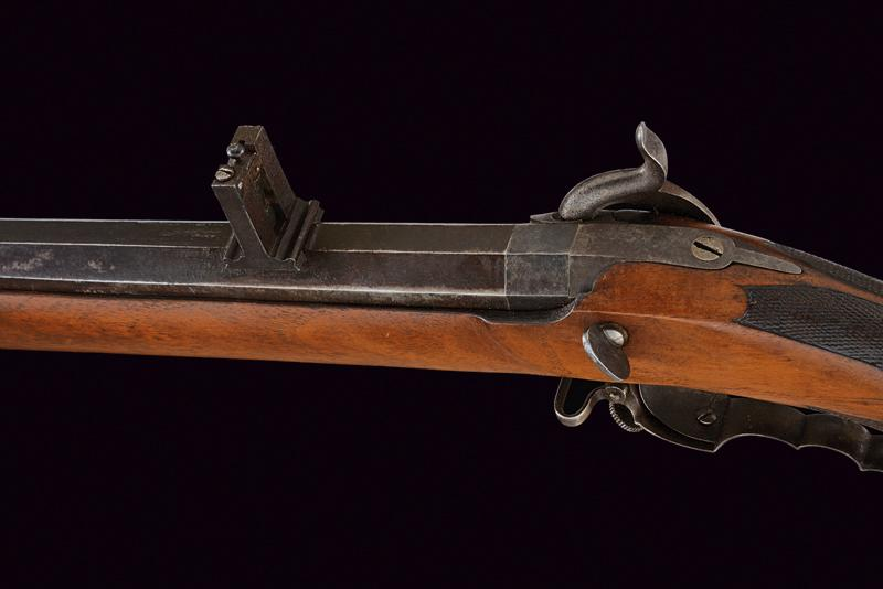 A percussion target rifle by Sticher - Image 5 of 7