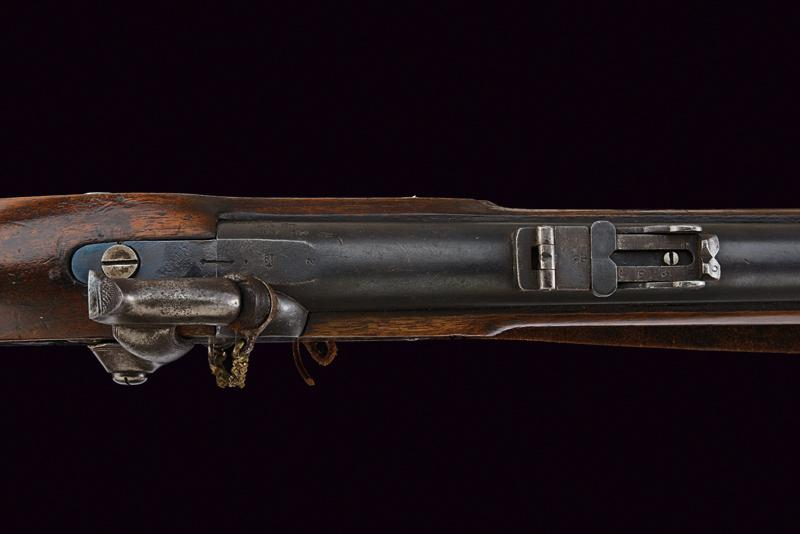 A Pattern 1853 Enfield percussion rifle with bayonet - Image 3 of 7