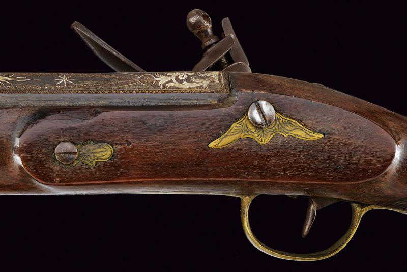 A flintlock blunderbuss with decorated barrel - Image 3 of 7