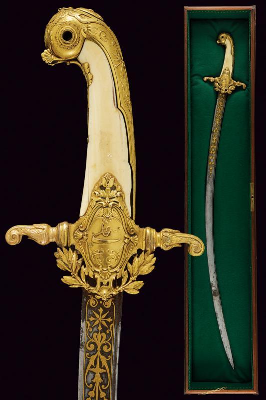 An elegant presentation sword for a gentleman with inscriptions in Arabic