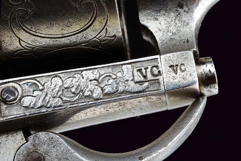 A fine Lefaucheux pin fire revolver - Image 4 of 7