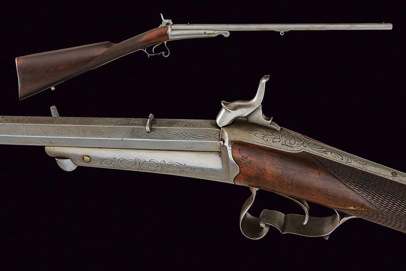 A single shot breech loading gun with Gaubert system