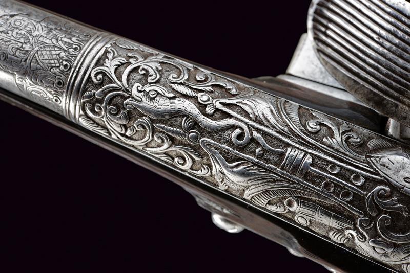 A beautiful flintlock pistol for the oriental market - Image 9 of 14