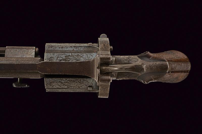 A fine pin fire revolver by Mazza - Image 3 of 5
