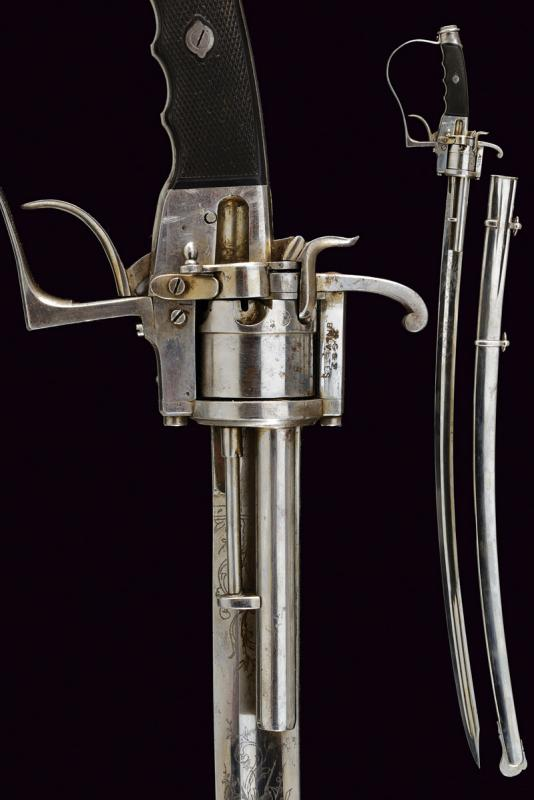 A very rare officer's sabre-revolver, 1864 patent