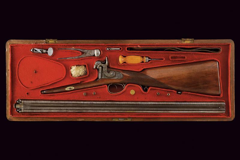 A rare cased four barrelled percussion gun by L. Menichetti - Image 19 of 19