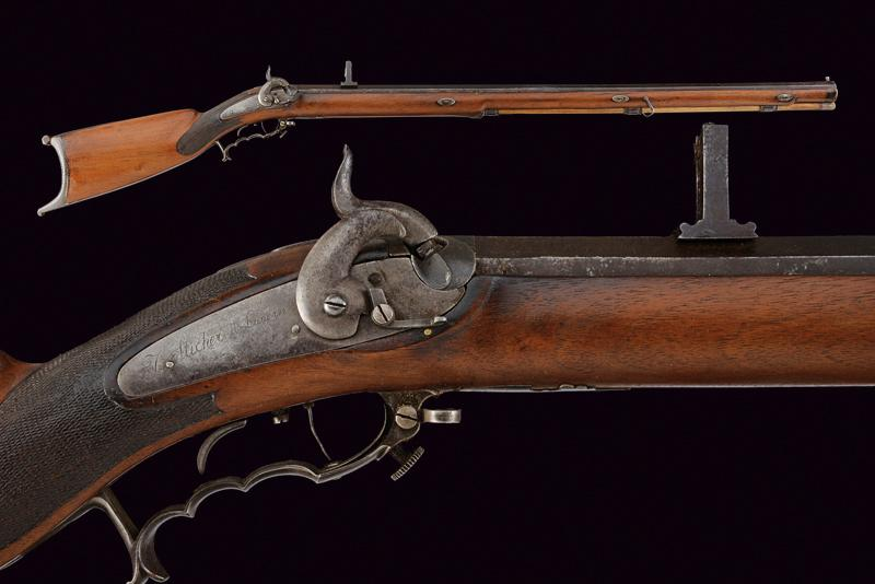 A percussion target rifle by Sticher