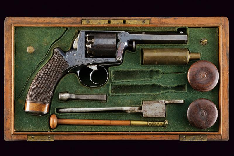 A cased Imperial Patent Tranter Double Action Revolver
