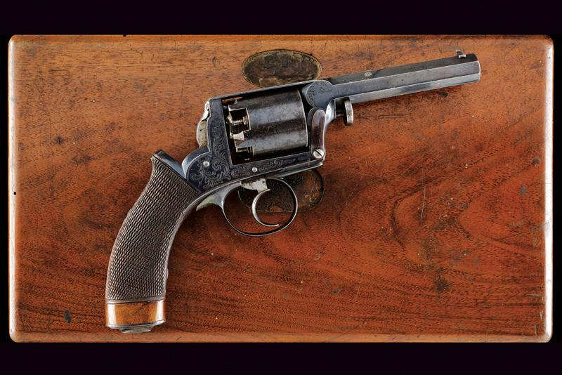 A cased Imperial Patent Tranter Double Action Revolver - Image 4 of 7