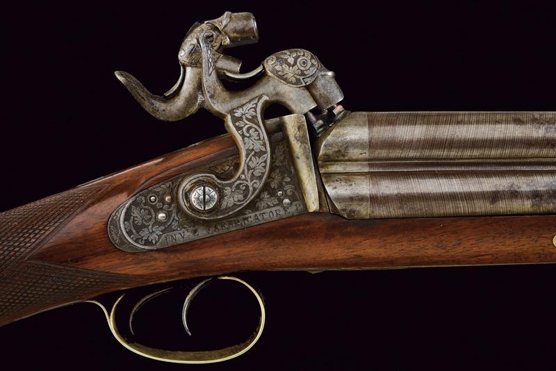 A rare cased four barrelled percussion gun by L. Menichetti - Image 4 of 19
