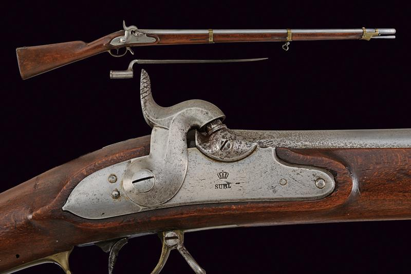 A percussion gun with bayonet of the Noble Guard