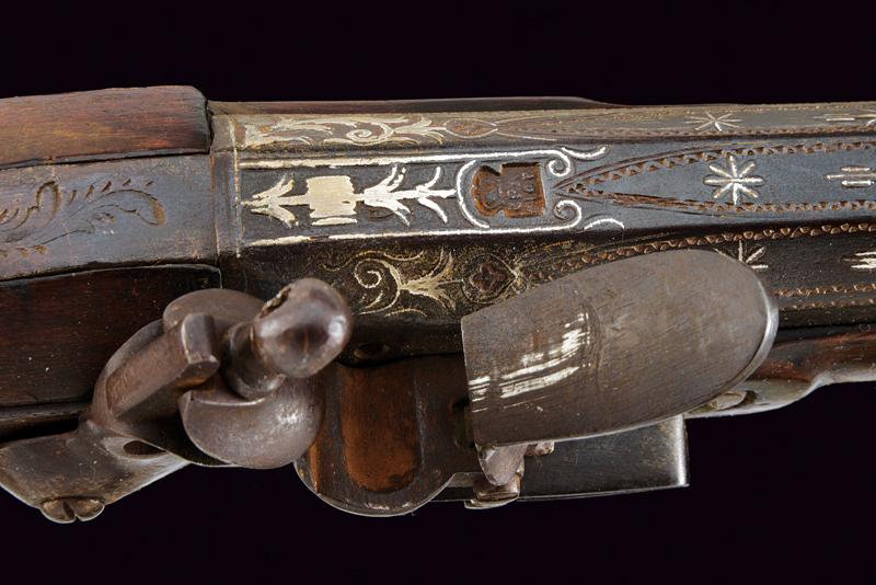 A flintlock blunderbuss with decorated barrel - Image 6 of 7