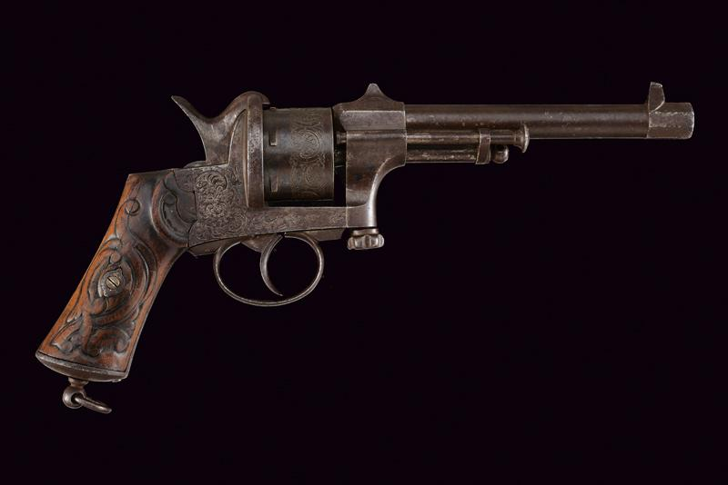 A Mariette pin fire revolver - Image 5 of 5