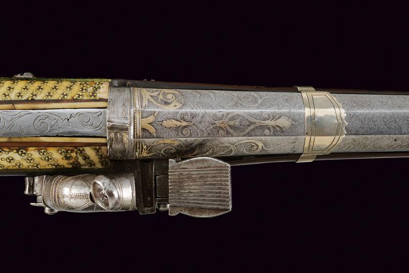 An elegant and rare flintlock tufenk - Image 7 of 13