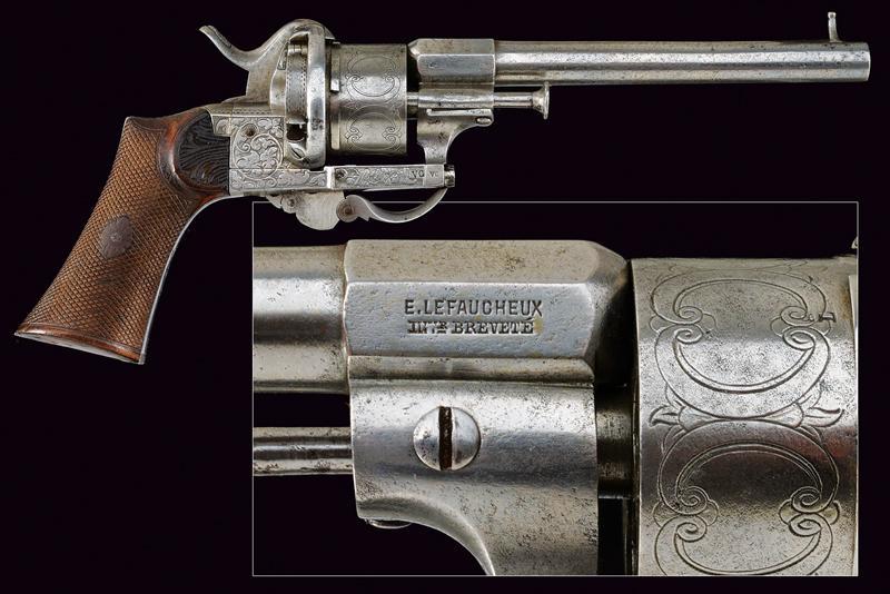A fine Lefaucheux pin fire revolver