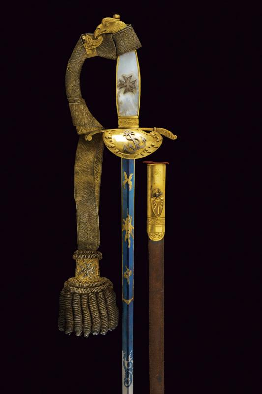 A rare knight's sword of the Military Naval Order of St. Stephen - Image 8 of 13
