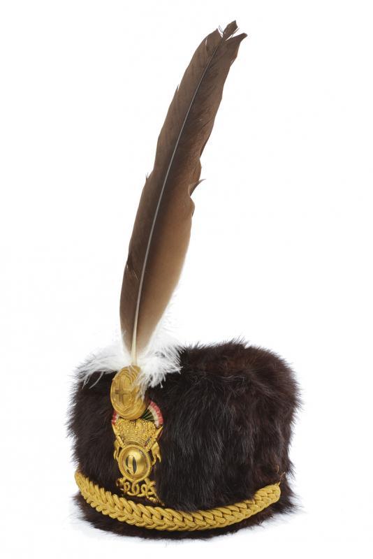 An officer's fur hat of the 'Lancieri di Firenze' regiment