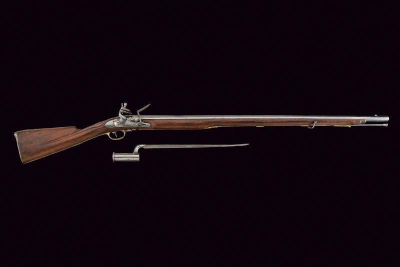 A 'BROWN BESS' Infantry flintlock gun with bayonet - Image 5 of 5