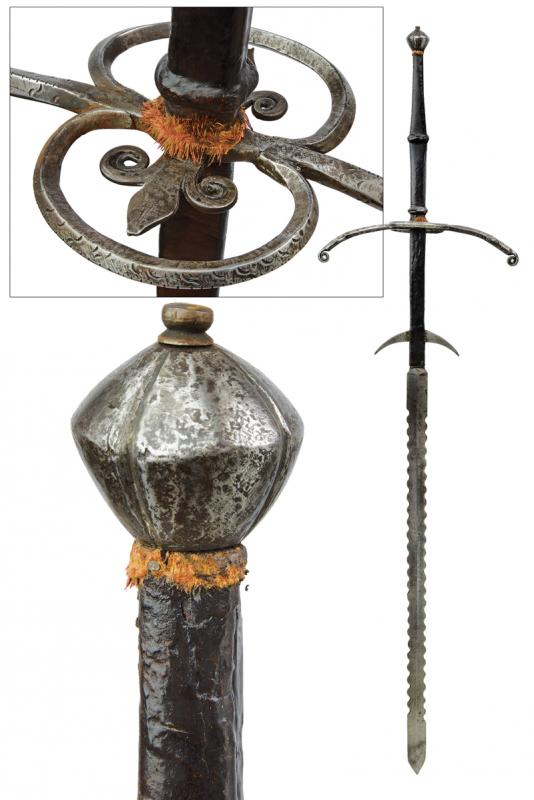 A two-handed sword