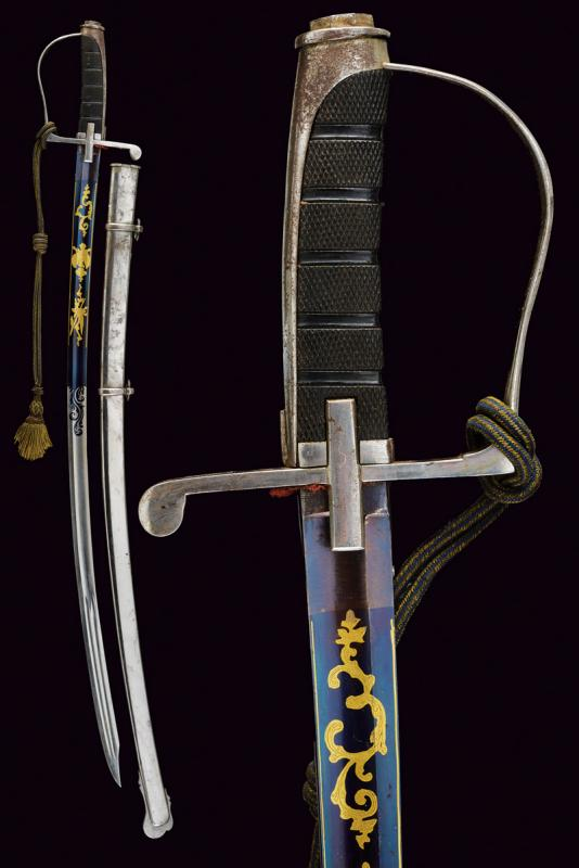 An 1855 model officer's sabre with beautiful blade