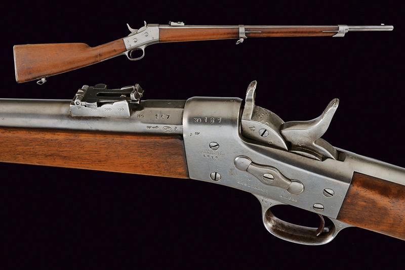 A Remington Rolling Block rifle by Nagant