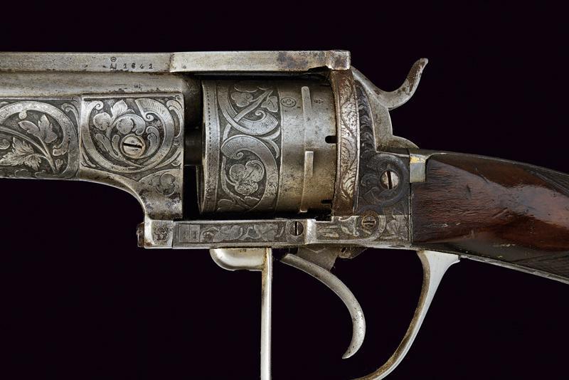A fine Lefaucheux pinfire revolving carbine - Image 7 of 8