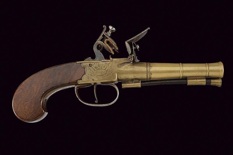 A naval flintlock boxlock pistol - Image 4 of 4
