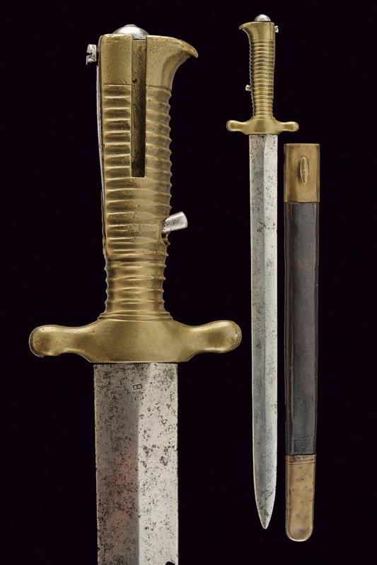 A 1843 model artillery bayonet