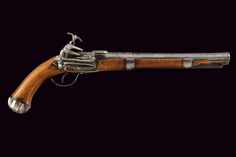 An interesting and rare miquelet flintlock pistol - Image 9 of 9