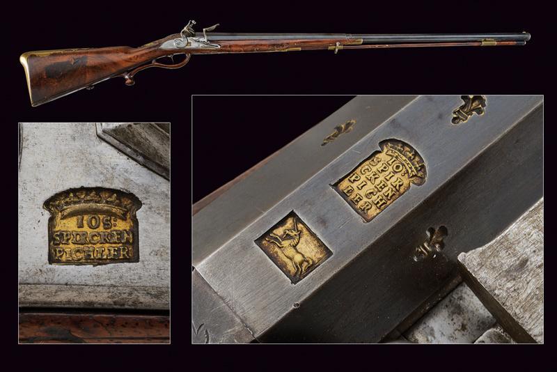 A flintlock gun by Spirckenpichler