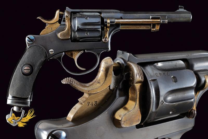 An 1882 model centerfire revolver