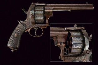 A rare ten-shot pin fire revolver